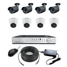 AHD-4U4WH Комплект видеонаблюдения 8-ми канальный Full HD