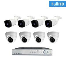 IP-4U4V Комплект видеонаблюдения на 8 ip камер